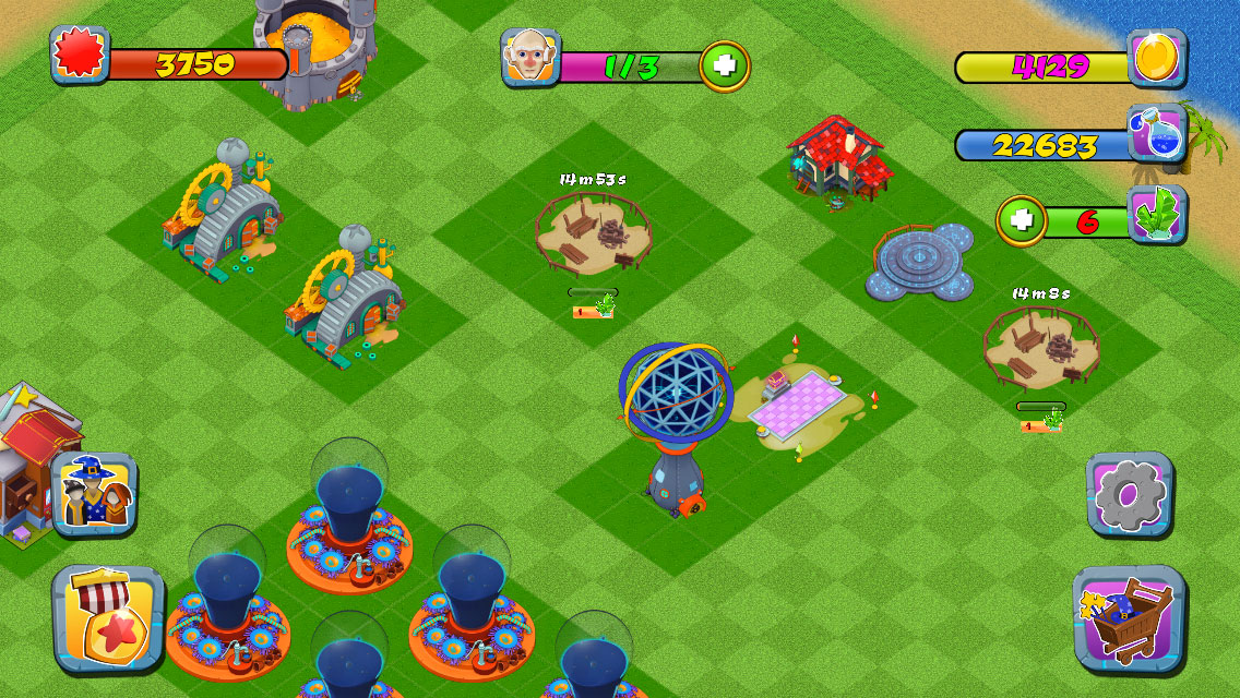 Build up an army of user created worlds and build your own city-builder strategy game