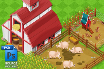 Farming Game Art
